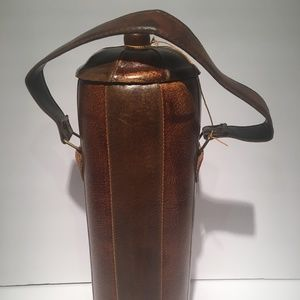 Vinyl Leather Vintage Look Canister Retro Decor